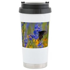 Wildflowers  Butterfly Travel Mug