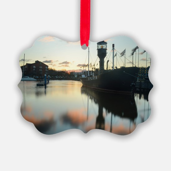 Hull Marina at Sunset Ornament