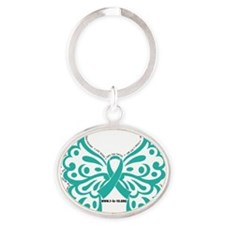 Symptom Butterfly Oval Keychain