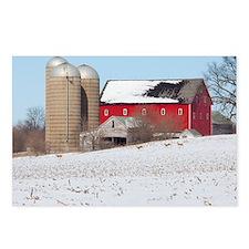 Red Barn Deer Postcards (Package of 8)