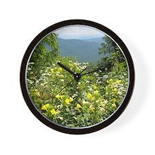 Blue Ridge Parkway Cutting Board Wall Clock