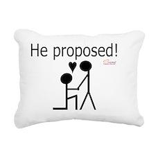 Gay Marriage Proposal -  Rectangular Canvas Pillow