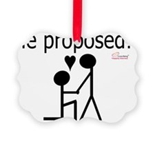 Gay Marriage Proposal - He Propos Ornament