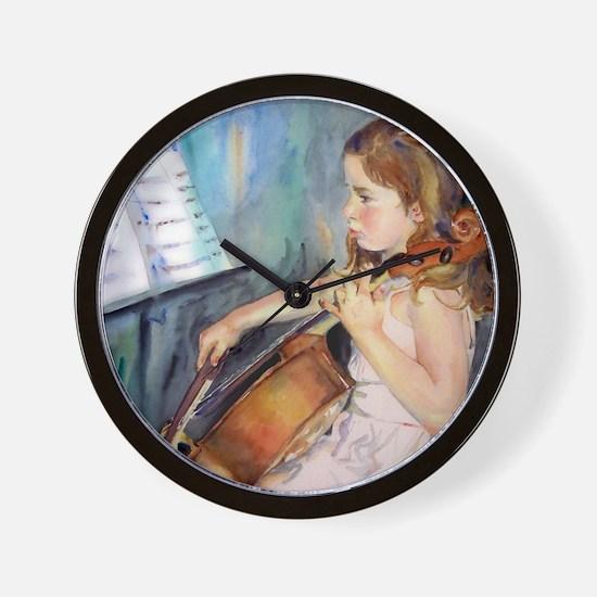 Cellist Girl Wall Clock