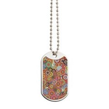 Multicolored rings Dog Tags