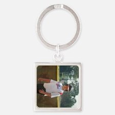 dustin 3 side Square Keychain