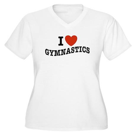 I Love Gymnastics Women's Plus Size V-Neck T-Shirt