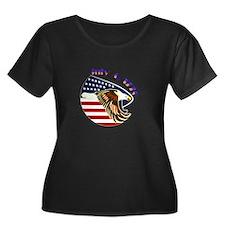 Purple Heart Women's Plus Size Scoop Dark T-Shirt