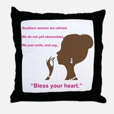 Bless Your Heart Throw Pillow