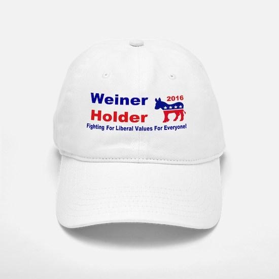 weiner holder 2016 liberal values bump Baseball Baseball Cap