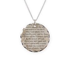 Saint Michael the Archangel Necklace Circle Charm
