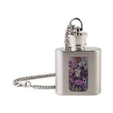 5 Tough Case Cattleya Hummingbirds Flask Necklace