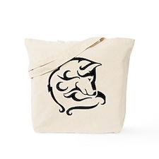 shy wolf tribal design Tote Bag