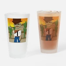 Cowboy Drinking Glass