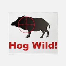 Hog Wild Throw Blanket