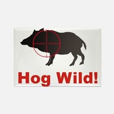 Hog Wild Rectangle Magnet