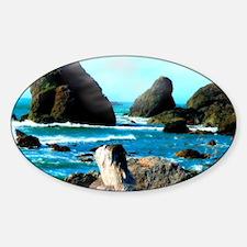 Brookings Oregon Rugged Coast Sticker (Oval)