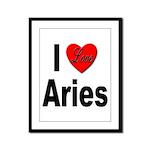 I Love Aries Framed Panel Print