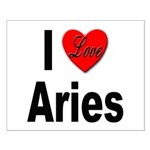 I Love Aries Small Poster