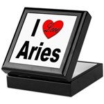 I Love Aries Keepsake Box