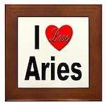 I Love Aries Framed Tile