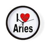 I Love Aries Wall Clock