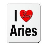 I Love Aries Mousepad