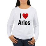 I Love Aries (Front) Women's Long Sleeve T-Shirt