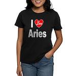 I Love Aries (Front) Women's Dark T-Shirt