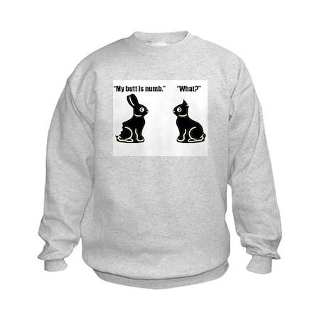 Chocolate Easter Bunny Kids Sweatshirt