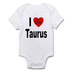 I Love Taurus Infant Bodysuit