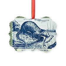 Antique 1948 Chile River Otter Po Ornament