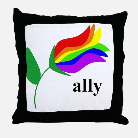 ally flower Throw Pillow