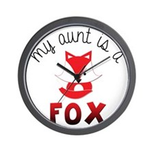 My Aunt is a Fox! Wall Clock