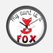 My Aunt is a Fox! Wall Clock