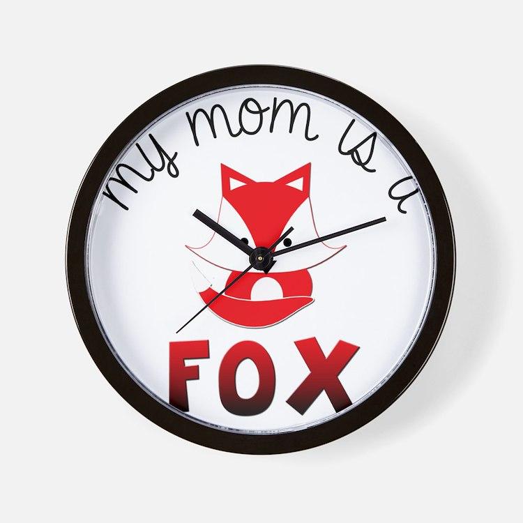 My Mom is a Fox! Wall Clock