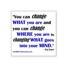 """You Can Change What You Are Square Sticker 3"""" x 3"""""""