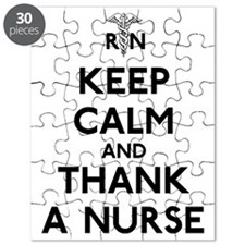 Keep Calm And Thank A Nurse Puzzle