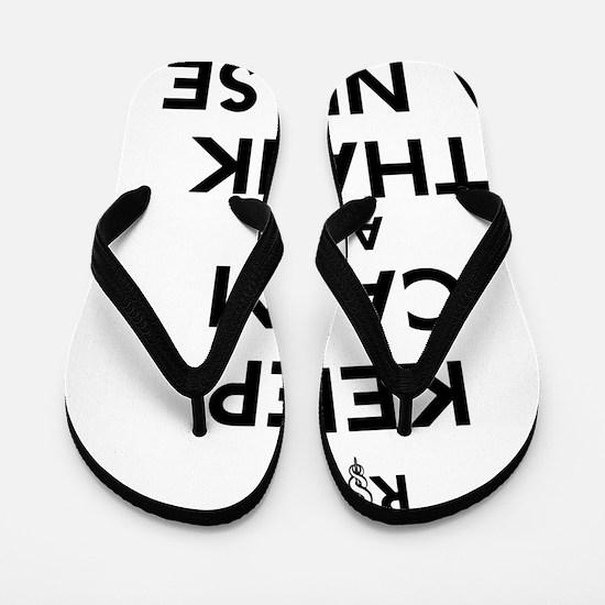 Keep Calm And Thank A Nurse Flip Flops