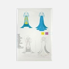 Fashion Gown Tech Pack Rectangle Magnet