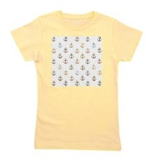 Anchor pattern made from vintage maps Girl's Tee