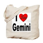 I Love Gemini Tote Bag
