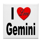 I Love Gemini Tile Coaster
