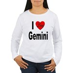 I Love Gemini (Front) Women's Long Sleeve T-Shirt
