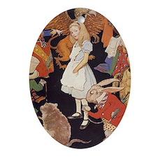 Alice in Wonderland 1923 illustratio Oval Ornament