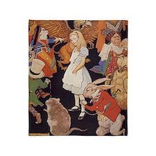 Alice in Wonderland 1923 illustratio Throw Blanket