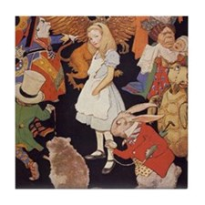 Alice in Wonderland 1923 illustration Tile Coaster