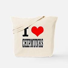 I Heart (Love) Chimpunks Tote Bag