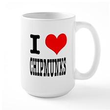 I Heart (Love) Chimpunks Mug
