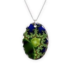 Fractal Notebook Necklace Oval Charm